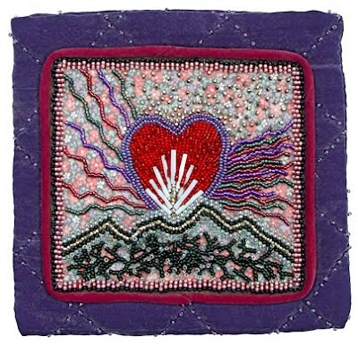 Mom's Pouch, bead embroidery by Robin Atkins