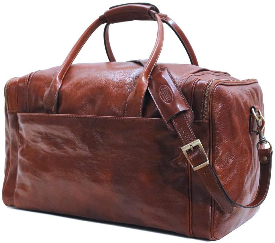 Floto Leather Cargo Duffle Travel Bag