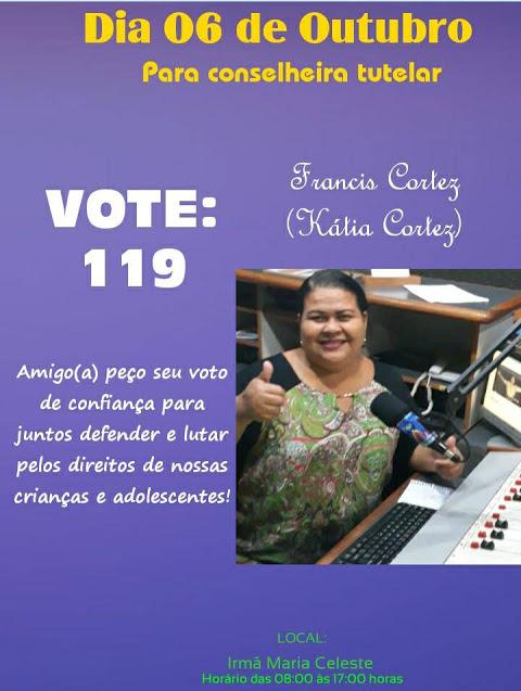 Kátia Cortez disputa vaga para conselheira tutelar