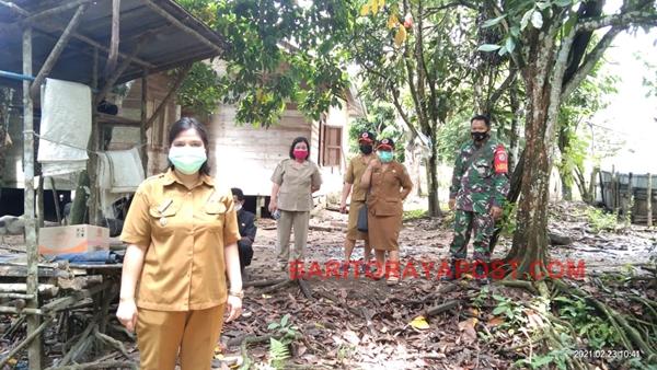 BPBD Kabupaten Bartim Pantau Langsung Bencana Tanah Longsor Di Desa Bamban