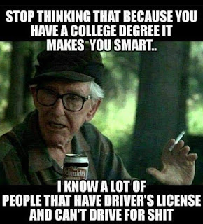 Stop thinking that because you....