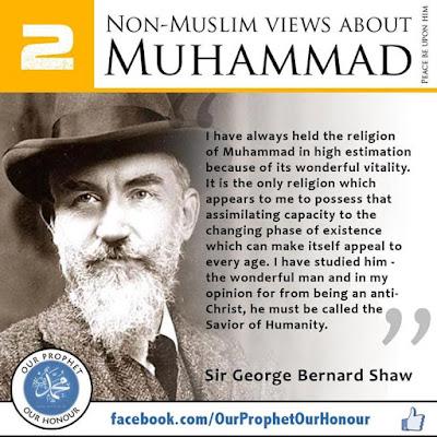 2 Sir George Bernard Shaw view about Prophet Muhammad (PBUH) by Ummat-e-Nabi.com