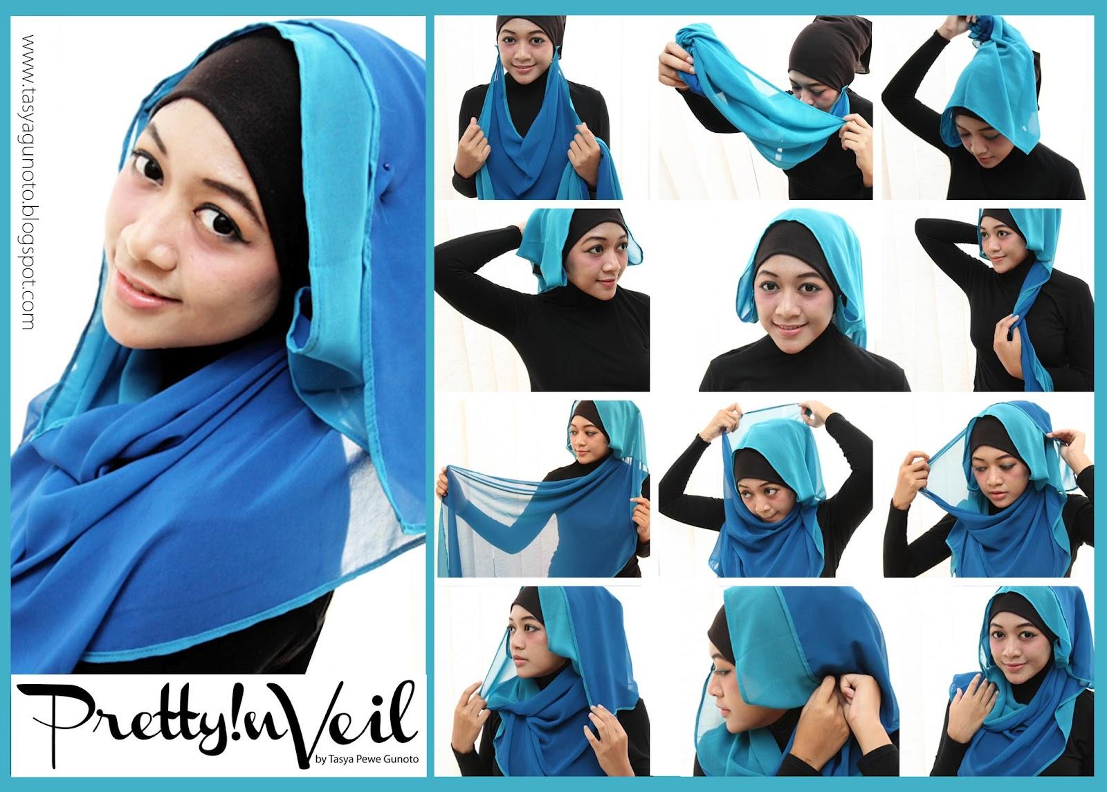 Cara Pakai Jilbab Paris Tanpa Ciput Ninja Model Jilbab