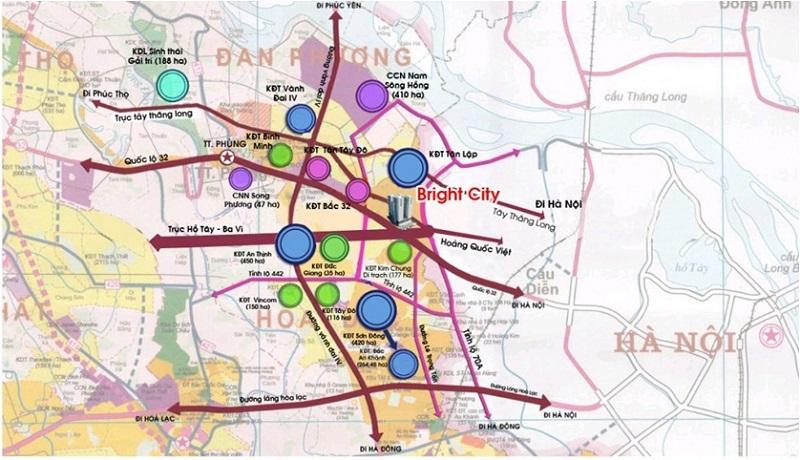 Quy hoạch giao thông huyện Hoài Đức đồng bộ, hiện đại