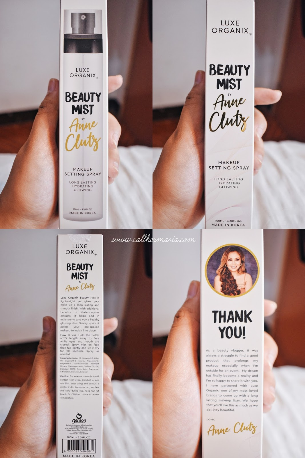 Luxe Organix Beauty Mist by Anne Clutz Review + Wear Test