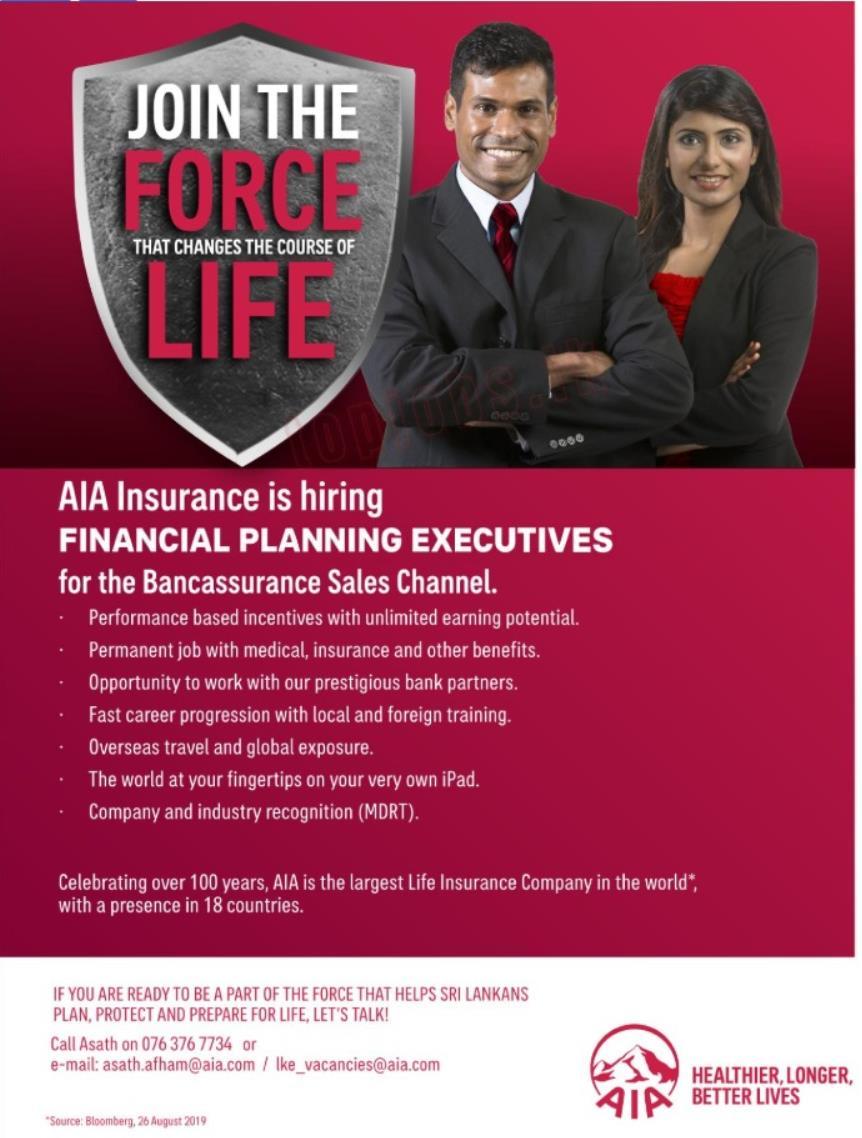 AIA Insurance Vacancies