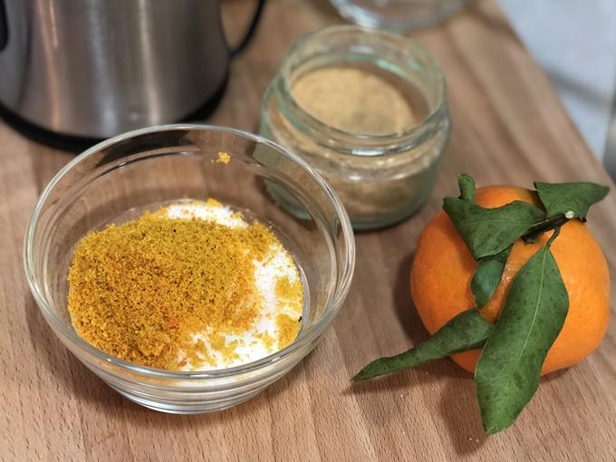 Azúcar de jengibre y mandarina