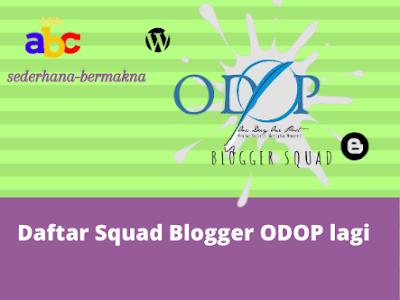 Daftar Squad Blogger ODOP