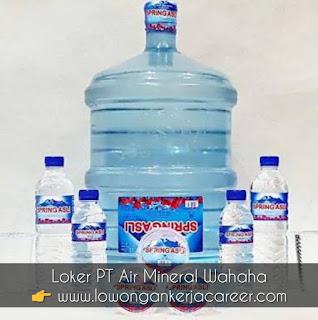 Lowongan Kerja PT Air Mineral Wahaha Asli Sukoharjo Air minum Spring Asli