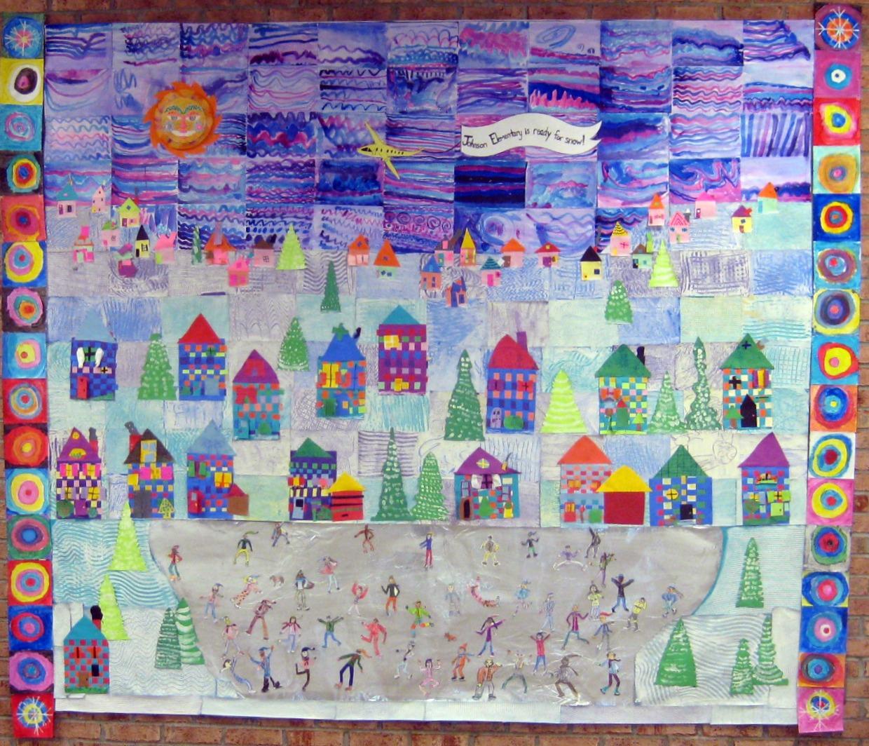 Cassie stephens diy wishful winter wonderland for Mural for kids