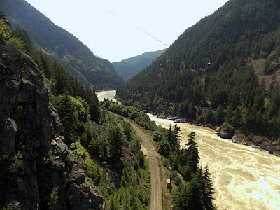 Beautiful Fraser Canyon Railroad Tracks