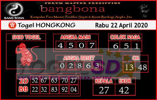Prediksi HK 22 April 2020 - Bang Bona HK