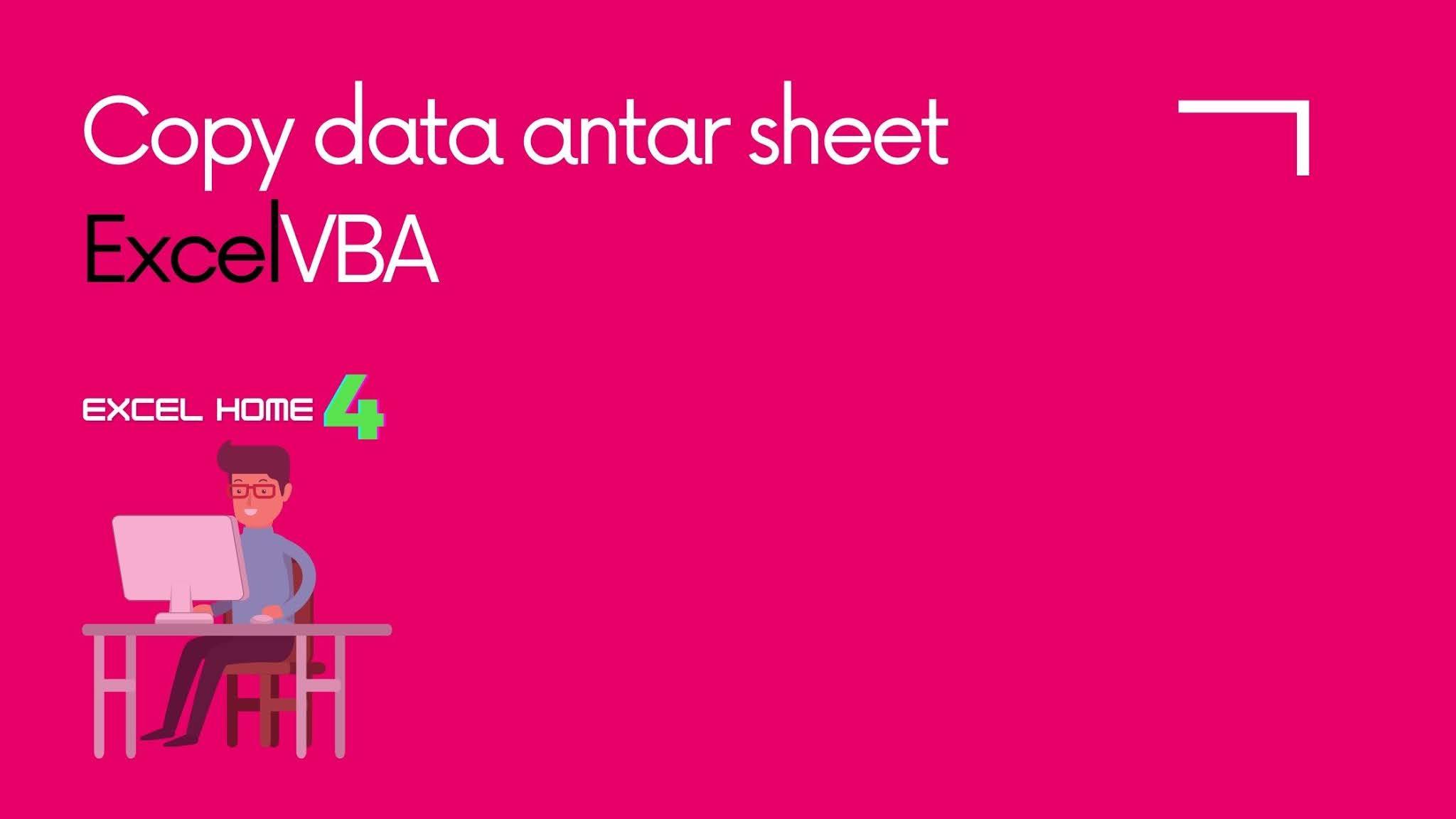 Copy Paste Data Antar Sheets