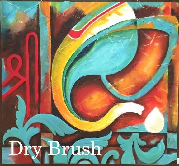 Colorful, textured Ganesha Painting