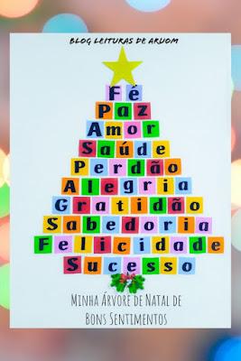 MOLDE: Árvore de Natal de Bons Sentimentos