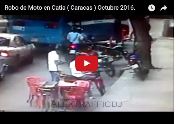Asi se robaron una moto en Catia