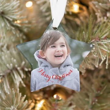 Create Your Own Star Acrylic Holiday Christmas Photo Ornament