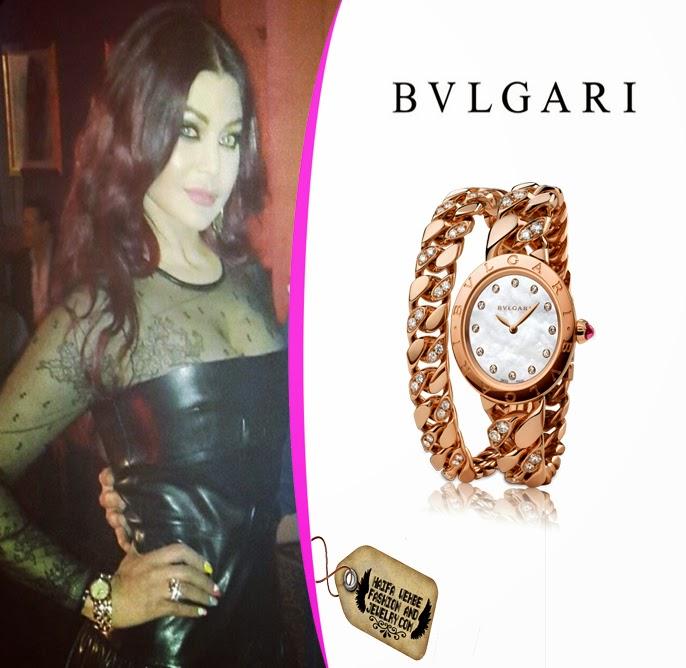 f0410ceaf9 Haifa Wehbe rocking her Bvlgari Catene 18kt Pink Gold Watch