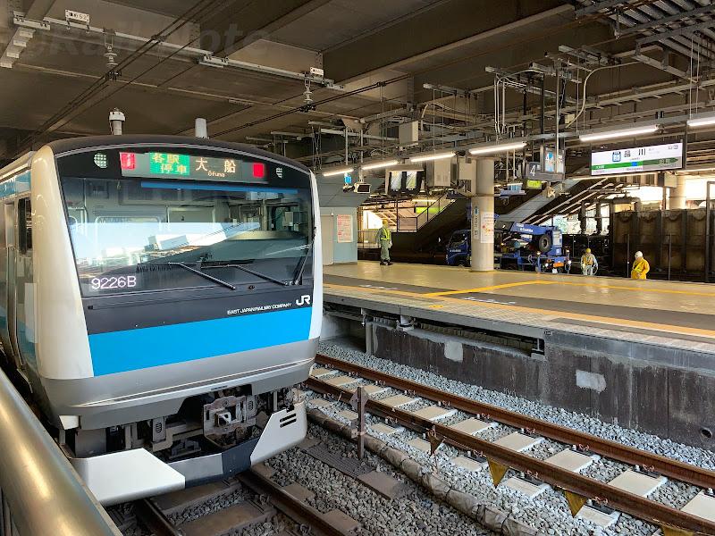 横で工事の進む京浜東北線品川駅