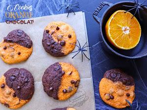 Cookies orange chocolat d'Halloween !