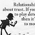 Trust - Playing Detective And Relationships