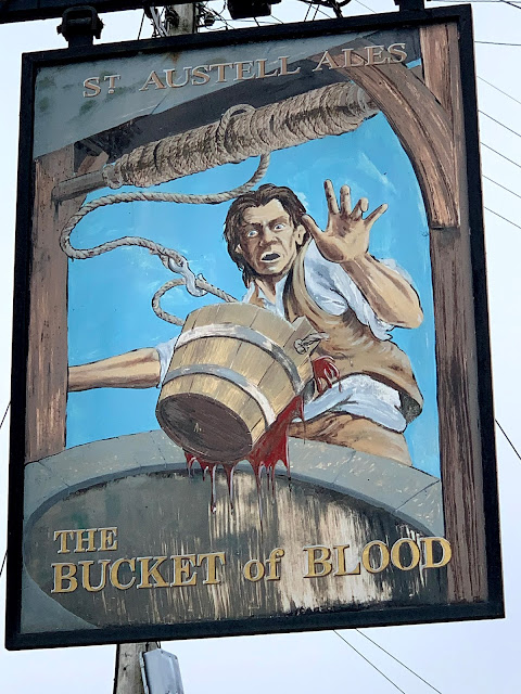 Sign for The Bucket of Blood pub