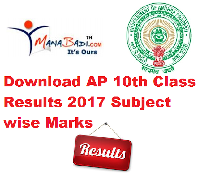 Manabadi - BSEAP AP 10th Class Results 2017 Subject wise Grades Marks