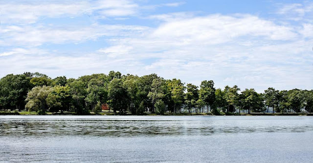 a view of the point at Tudhope Park, Orillia
