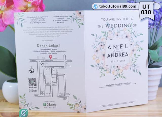 Undangan pernikahan UT027 - Seimpel Lipat 2 +free kartu ucapan terima kasih