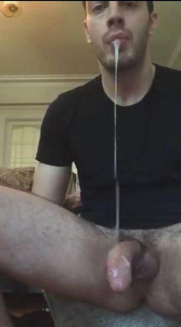 Eating my own cum