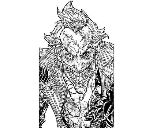 free printable batman and joker coloring pages >> disney