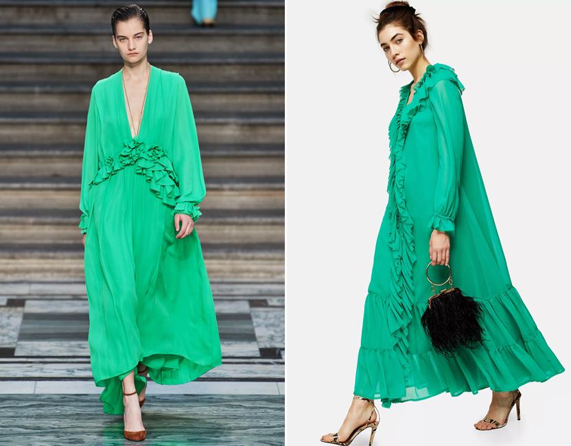Topshop se inspira en el vestido primaveral de Victoria Beckham