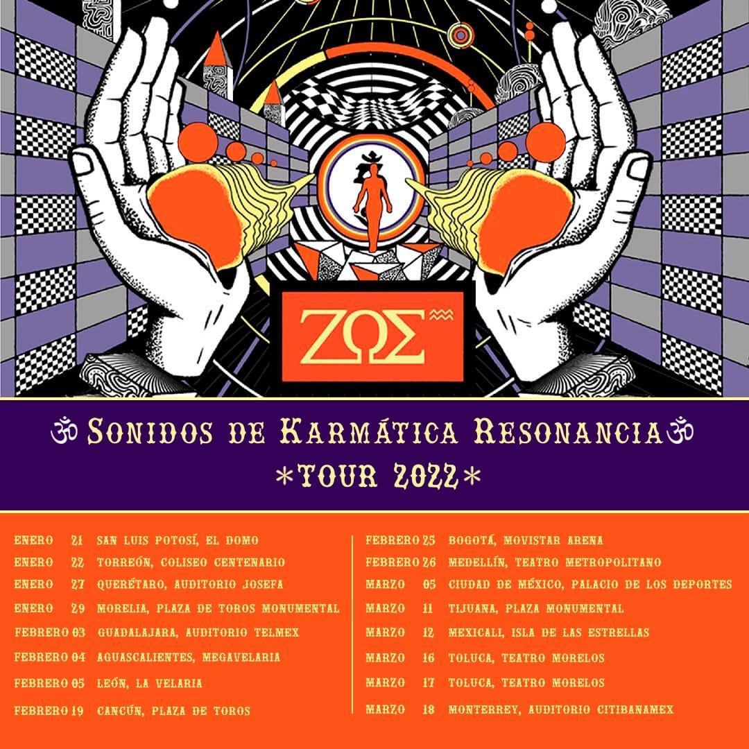 Zoe nueva gira fechas de Conciertos 2022