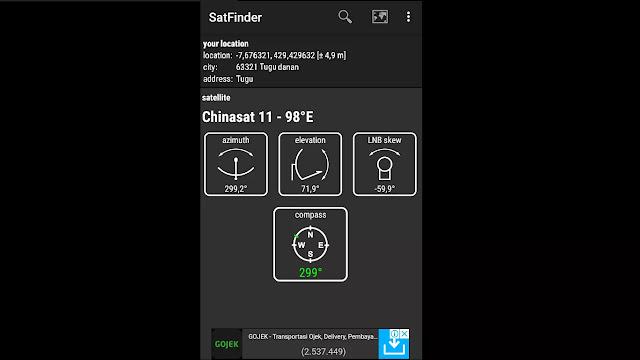 cara tracking parabola pake hp android