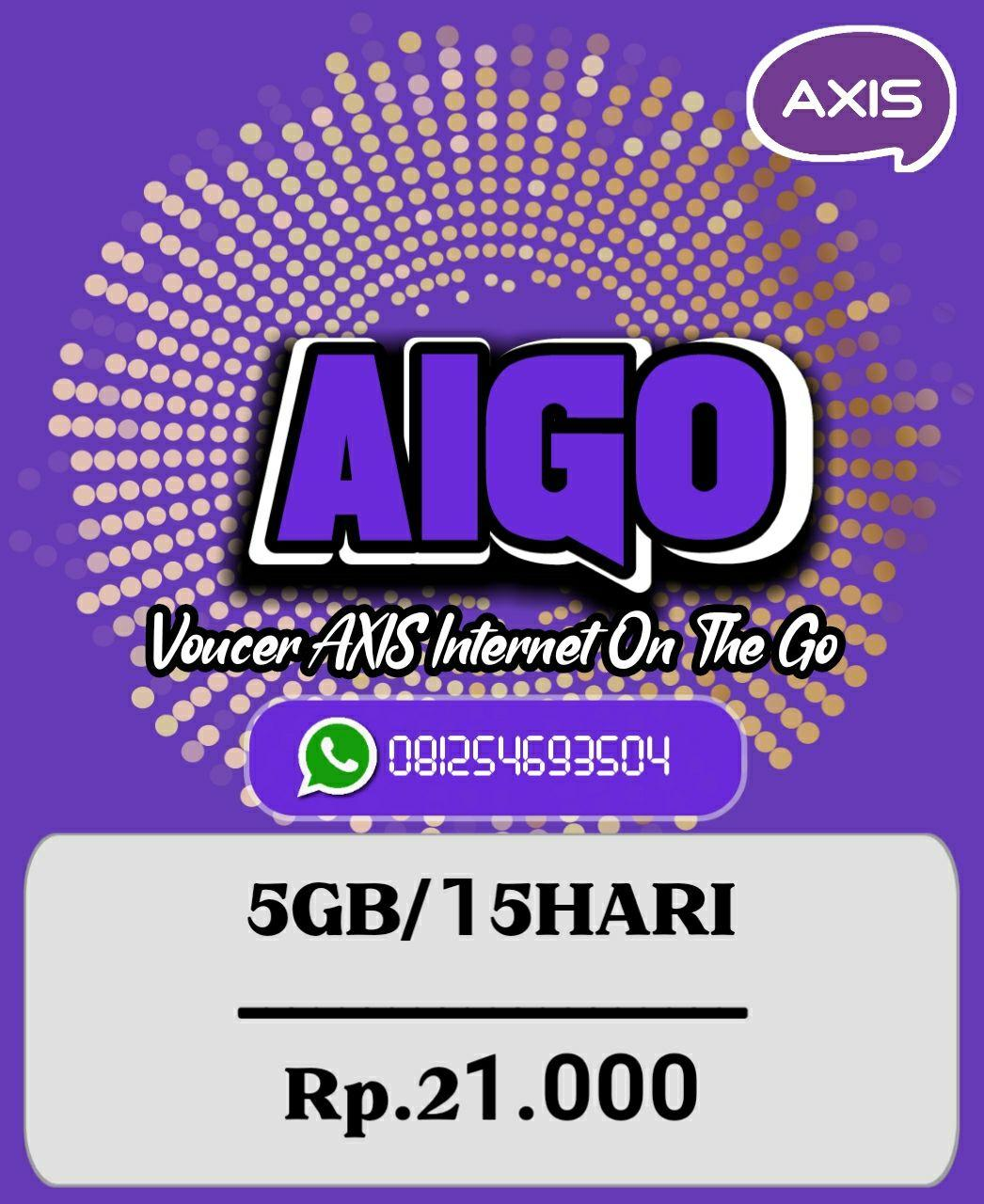 Voucer Axis 5GB/15HARI