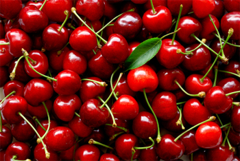 image of red cherries