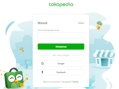 Tokopedia Login