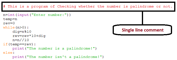 ways of making single line comment in python