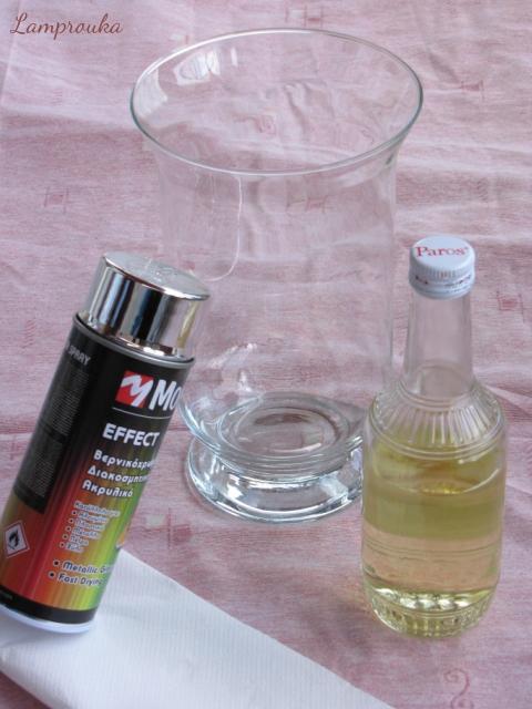 Τεχνική mercury glass τα υλικά.