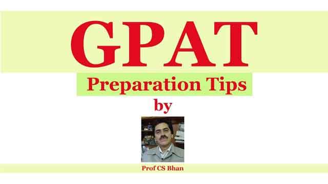 gpat exam ki preparation kaise karen