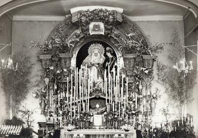 Monte Calvario restaura el retablo mayor de su ermita