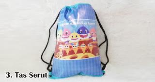 Tas Serut merupakan salah satu jenis tas cantik untuk bingkisan ulang tahun anak