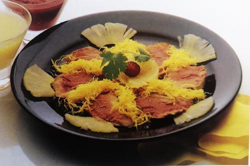 Roast beef con piña