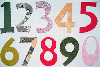 Custom die cut jumbo numbers, available from Foil Play