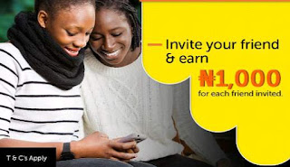 Invite your friends to Jumia one app and earn 1000 Naira per referral