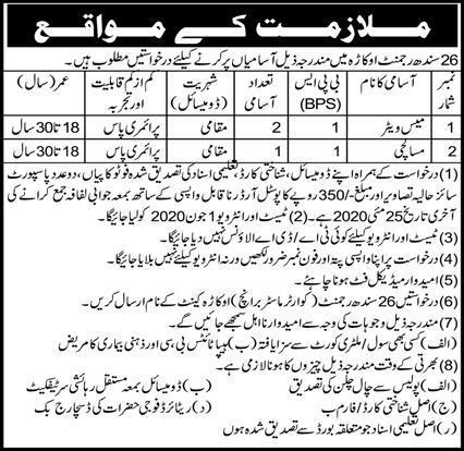 26 Sindh Regiment Okara Jobs