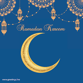Ramadan or Ramzan festival Ramadan Kareem greetings ramadan lanterns crescent moon