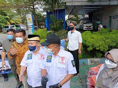 DPRD Kota Tangerang Salurkan Kantung Jenazah Ke RSUD Kota Tangerang