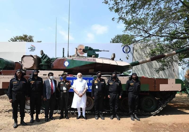 Церемонія передачі першого танка Арджун версії Mk 1A. Фото Уряд Індії