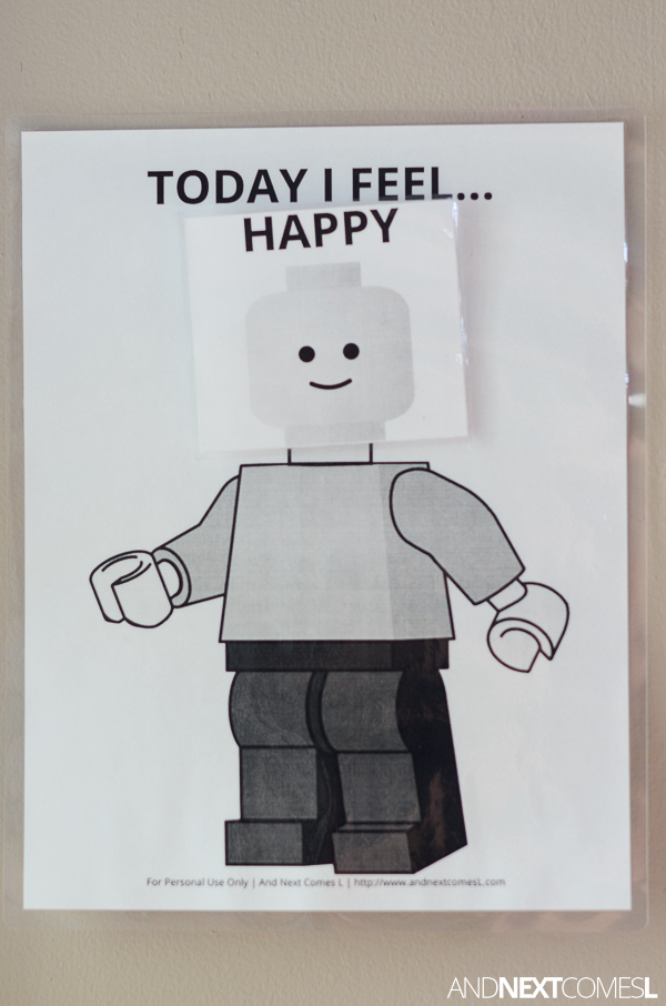 Practice Emotions And Feelings With This Free Printable Lego Visual Chart For Kids From